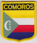 Comoros Embroidered Flag Patch, style 07.
